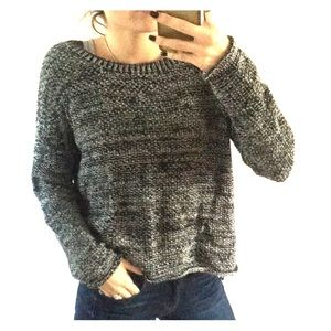 Sanctuary M black and white chunky knit sweater